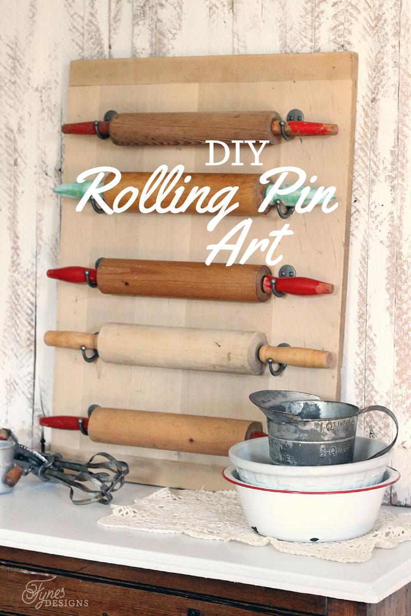 Farmhouse Kitchen Wall Decor Ideas Easy Diy Rolling Pin Wall Art  Rolling Pin Kitchens And Walls
