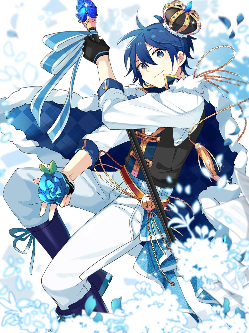 King Kaito Vocaloid kaito, Blue hair anime boy, Anime boy