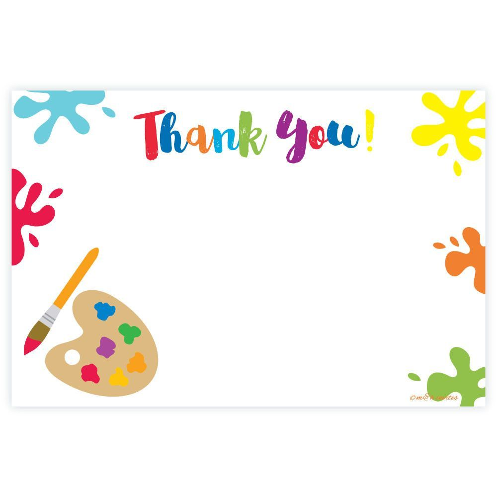 Art Painting Themed Thank You Note Cards