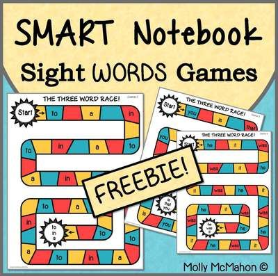 Free Sight Word Games On The Smart Board From Lessons By Molly On