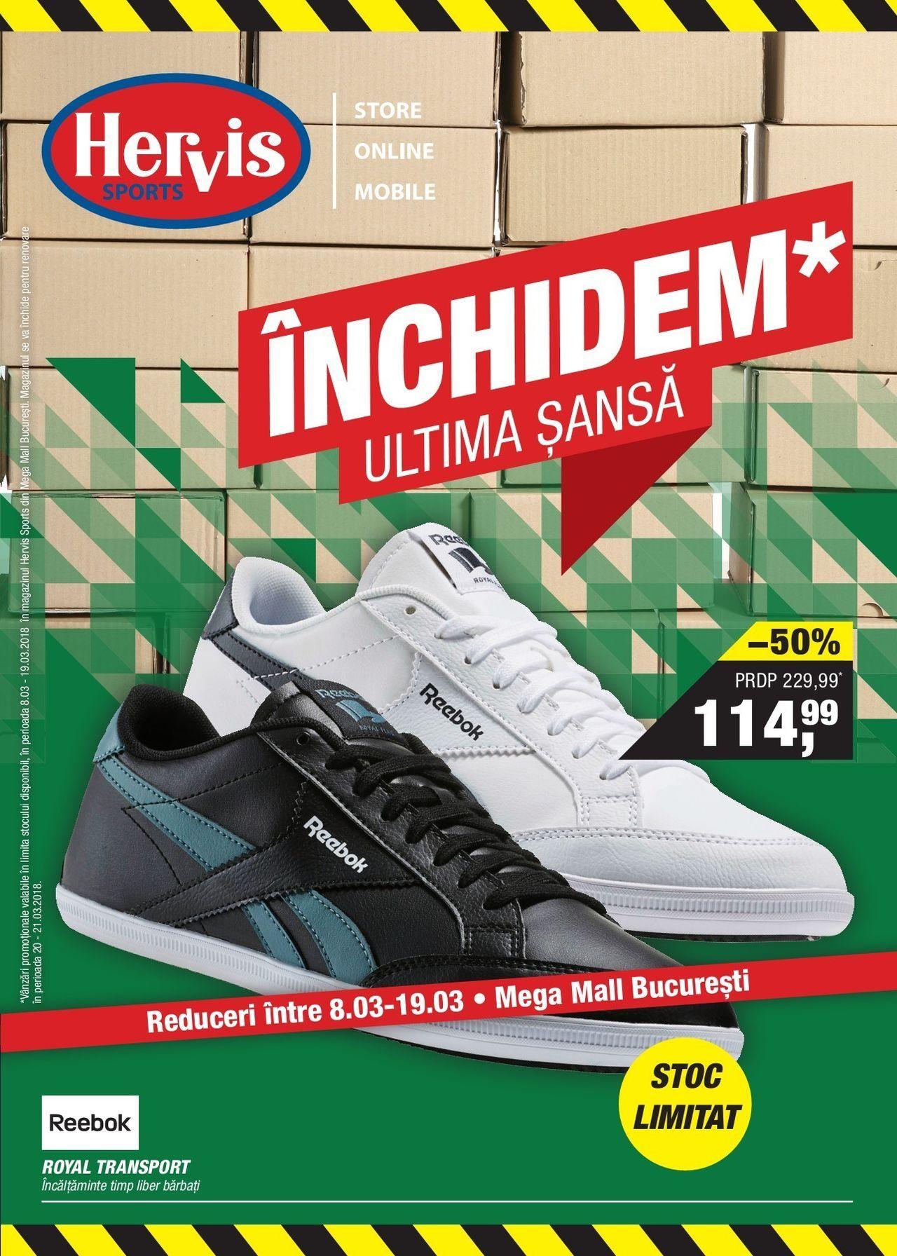 36d45628e77 Catalog Hervis Sports Inchidem Mega Mall 08-13 Martie 2018! Oferte si  recomandari