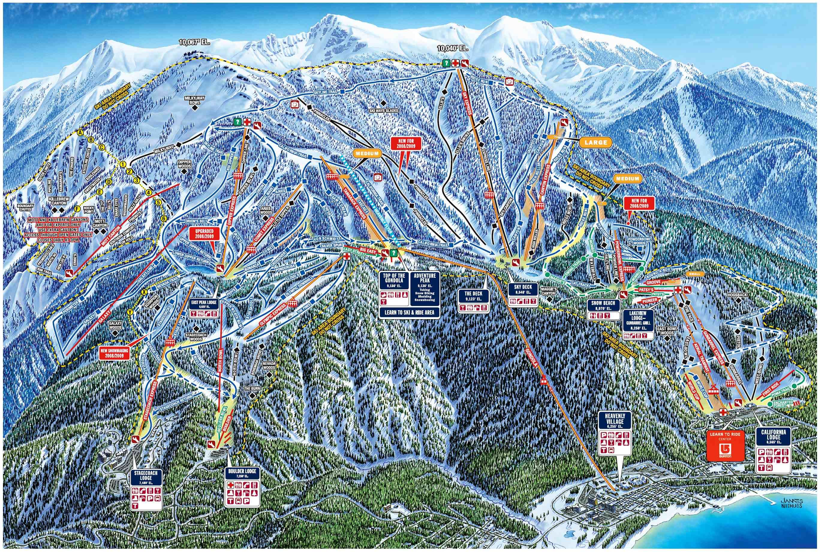 Heavenly Trail Map Travel Pinterest Lake Tahoe Skiing
