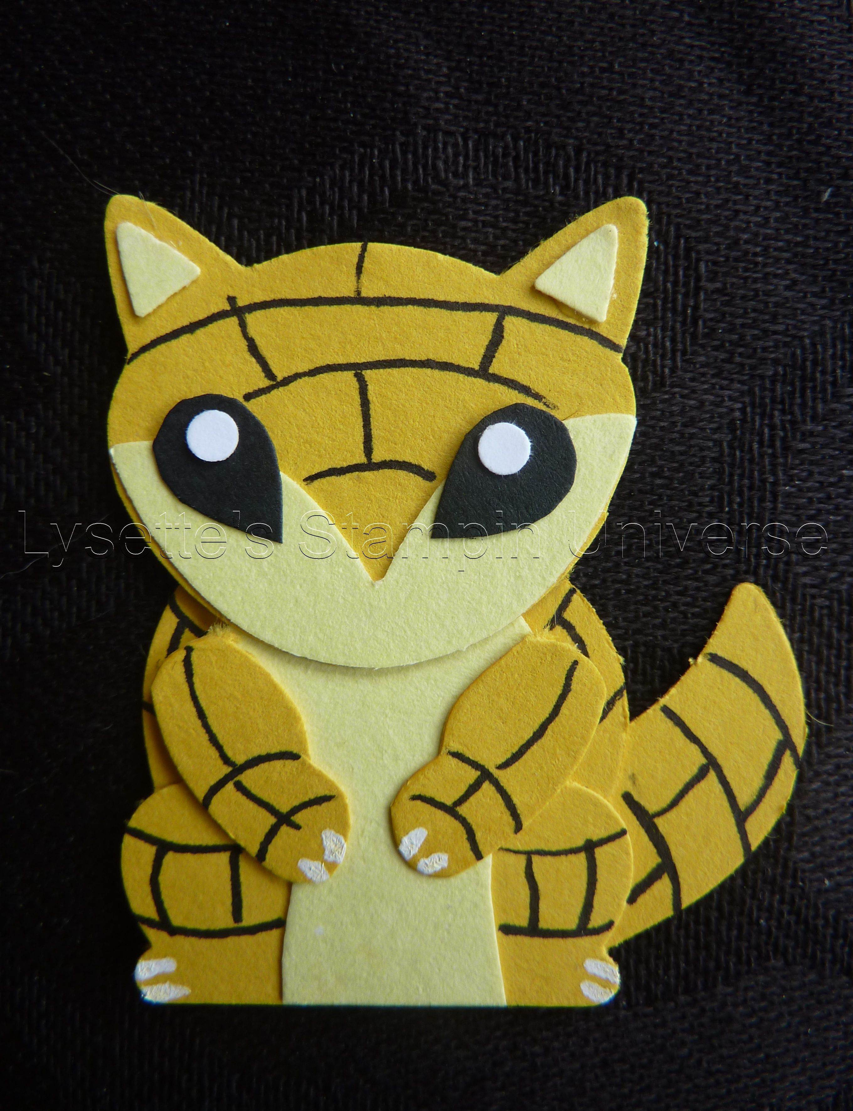 Gotta Craft Them All chalenge dag 28: Sandshrew https://www.facebook.com/Lysettes.stampin.universe/home
