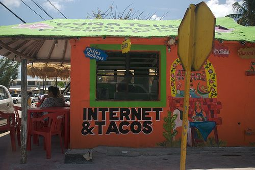 internet & tacos by lecates, via Flickr.  My idea of a good day.