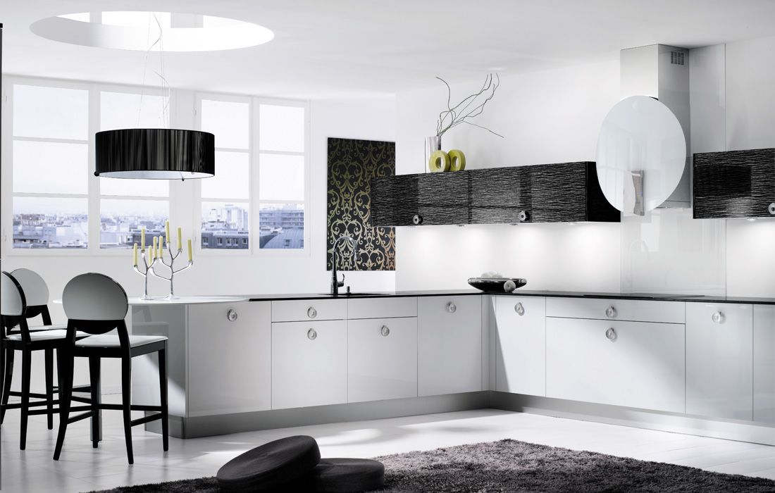 19 Inspiration Black And White Kitchen Design & Decor Ideas Custom White Kitchen Design Ideas Design Inspiration