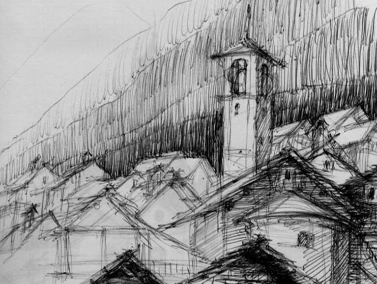 Architecture Sketch - Architectural Design Drawings, Inspiration for Architects, Graphic Designers , Architect Jobs and CAPI Students of Structure and Design Elements , Art School Portfolio Work Keeping Sketchbooks, How to Draw Buildings, How to Sketch Architecture, How to Keep a Sketchbook