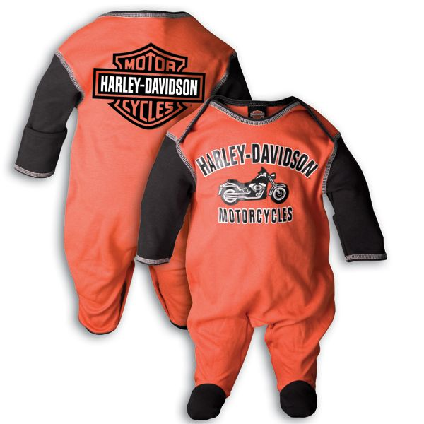 Harley Davidson Baby Core Harley Davidson Footed Coverall For Baby Boys Harley Baby Clothes