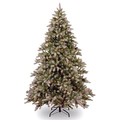Martha Stewart Living Snowy Fir Tree 7 5 Feet Home Depot Canada White Artificial Christmas Tree Pre Lit Christmas Tree Christmas Tree Lighting