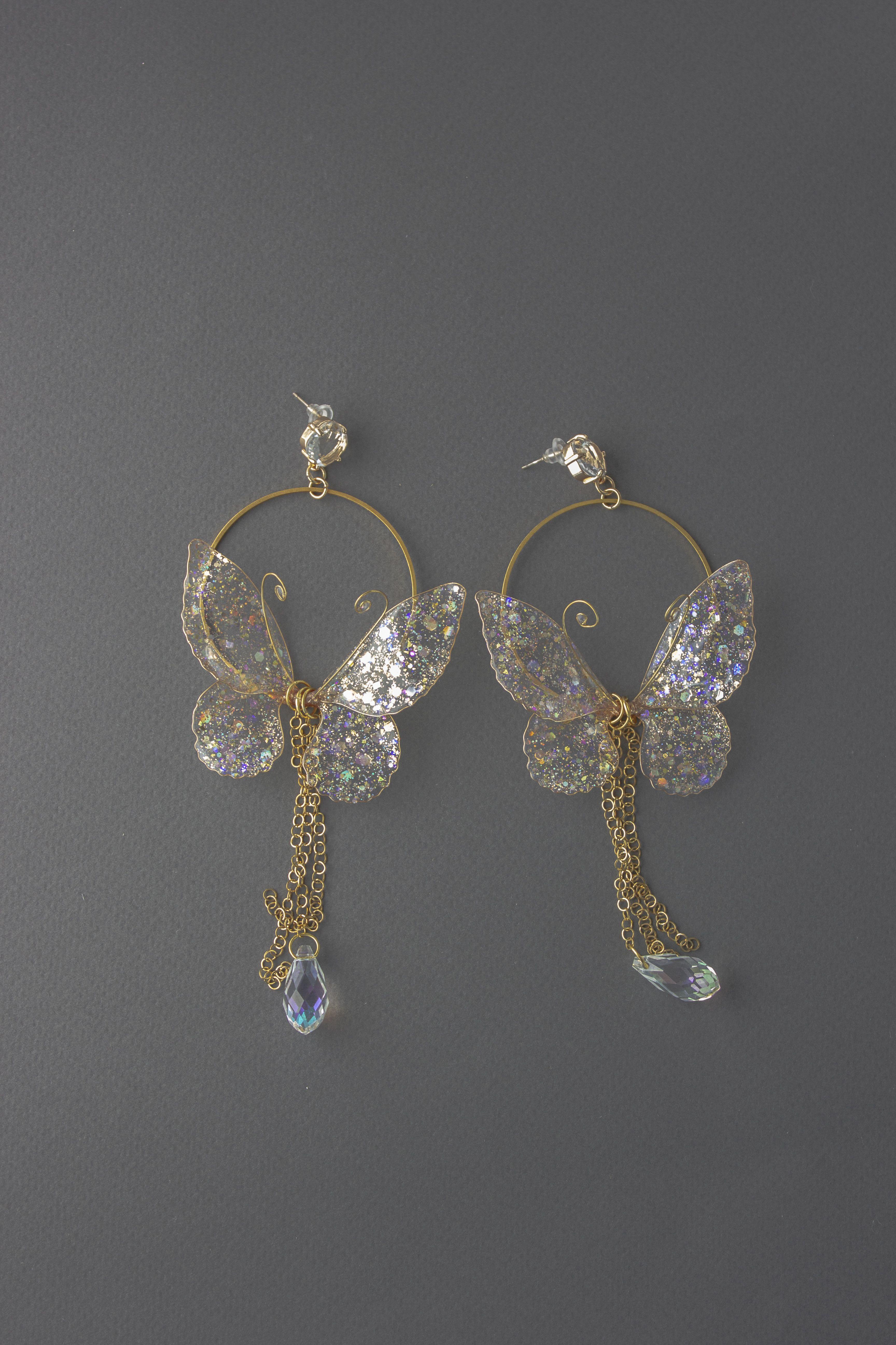 Photo of Butterfly Hoop Earrings