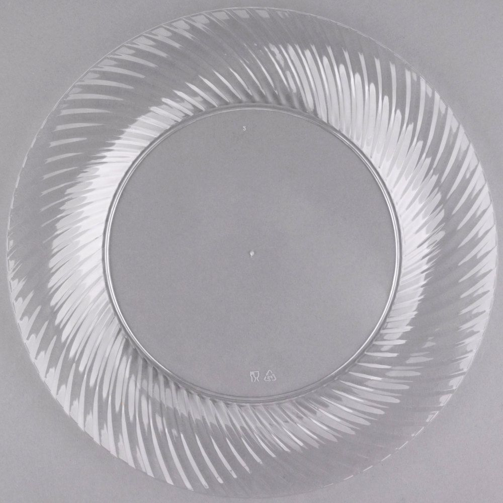 Visions Wave 10 Clear Plastic Plate 144 Case Clear Plastic Plates Plastic Plates Plastic Plates Wedding