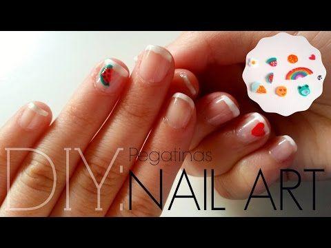 DIY: Crea tus propias pegatinas para las uñas - YouTube