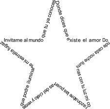Estrella Frases Caligramas Para Niños Poemas Caligramas Y