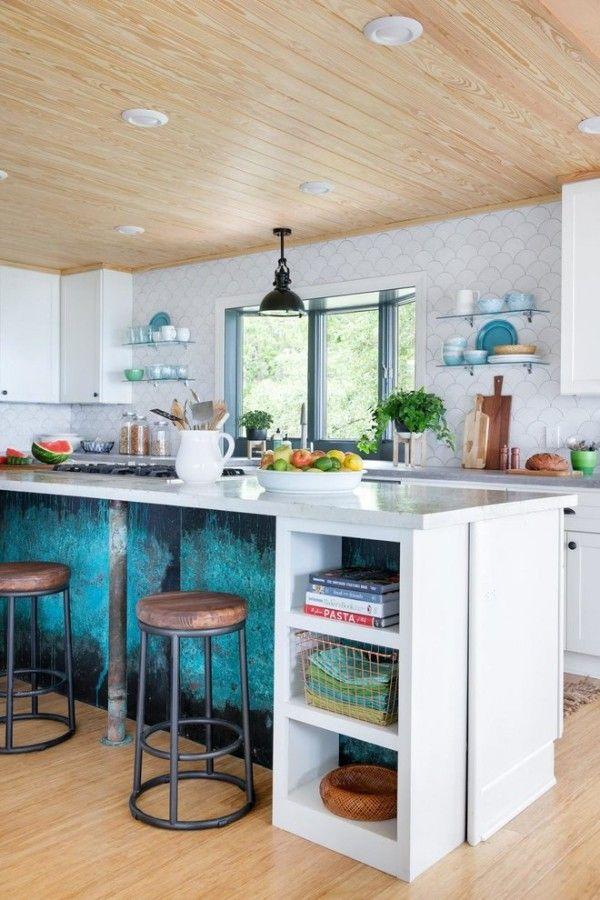 Modern Einrichten Wohnideen Küche Kücheninsel Patina Effekt  Innenarchitektur, Wohnung Einrichten Ideen, Haus Umbau,
