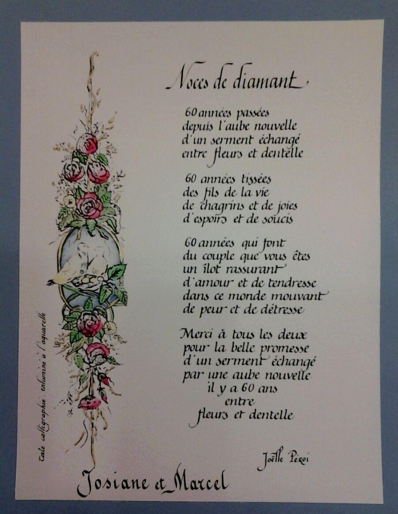 60 Ans De Mariage Noce De : mariage, Image, Associée, Noces, Diamant,, D'or,