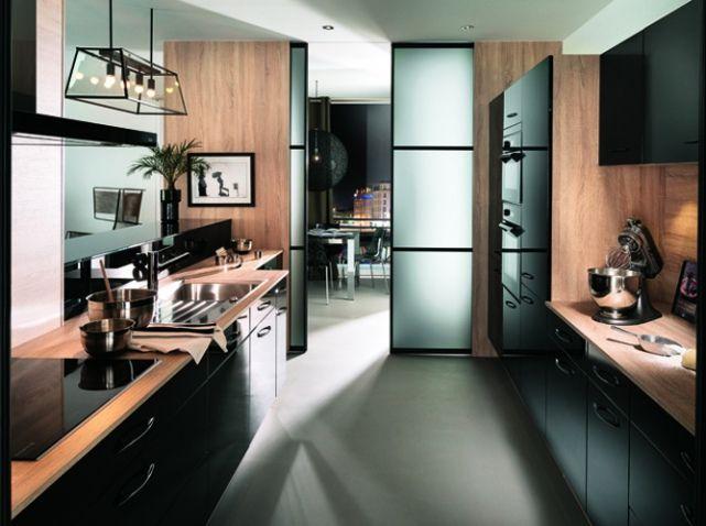 cuisine ouverte d couvrez toutes nos inspirations elle d coration cuisine semi ouverte. Black Bedroom Furniture Sets. Home Design Ideas