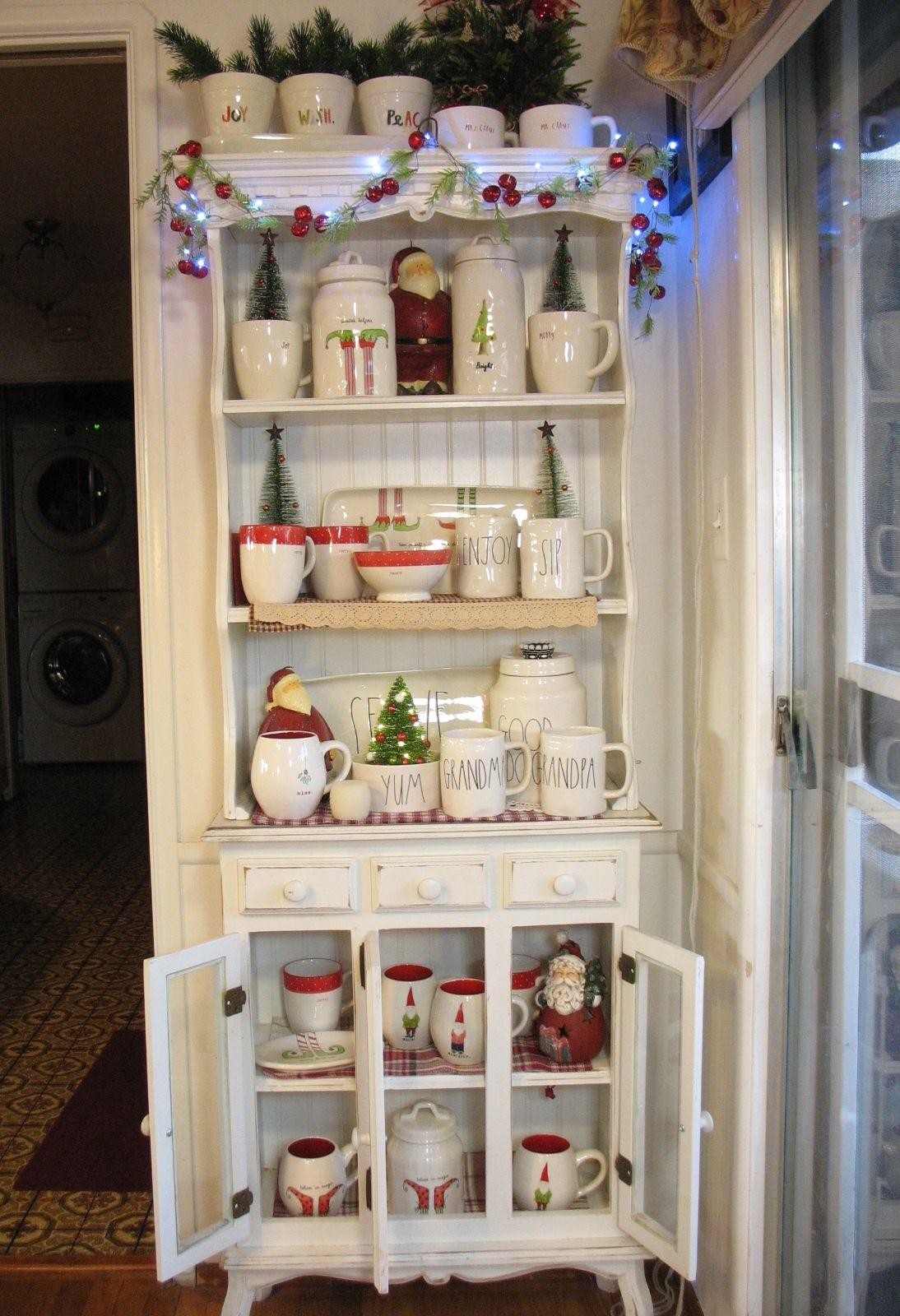 Christmas Bowls And Platters.Rae Dunn Christmas Corner Elves Gnomes Cups Bowls Jars