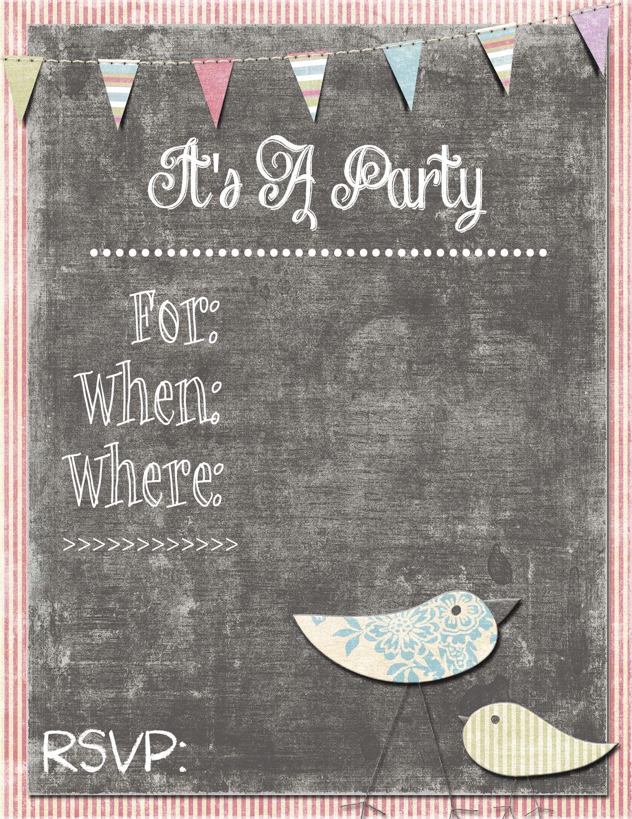 Girl Birthday Party Invitation Free Printable