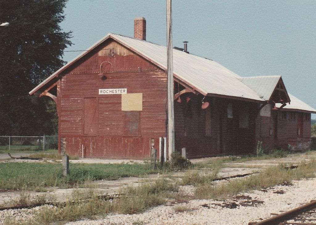 Erie lackawanna depot rochester in vintage house