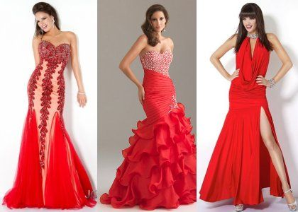Long Red Prom Dresses 2012
