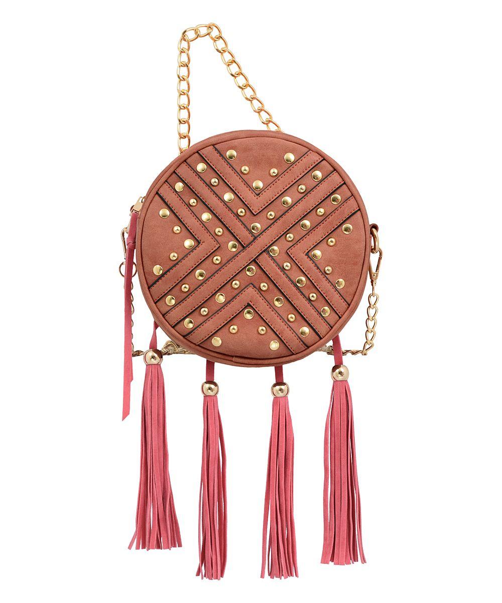 Chestnut Sandra Round Crossbody Bag