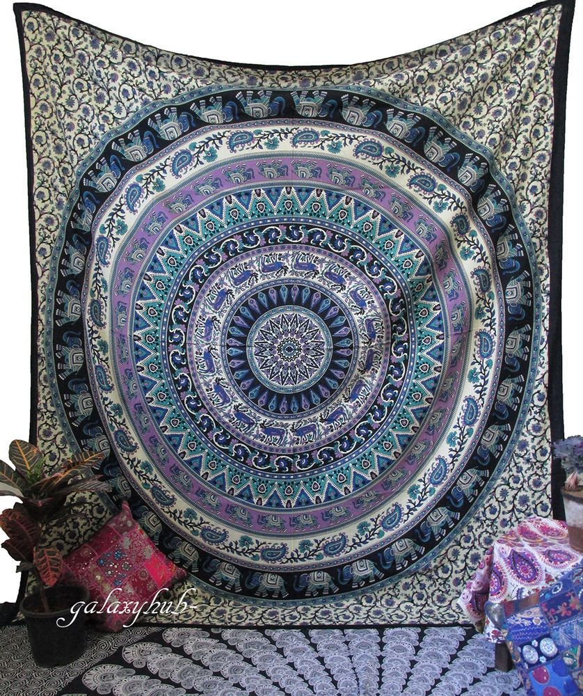 Queen Hippie Mandala Tapestry Indian Wall Hanging