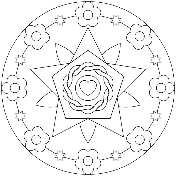 Corazón en flor | 05.-Mándalas | Pinterest | Mandalas, Flor y ...