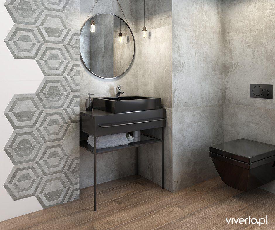 Plytki Heksagonalne To Prawdziwy Hit Ostatnich Miesiecy Ksztalt Przypominajacy Plastry Miodu Wpisuje Stylish Bathroom Bathroom Interior Design Brick And Wood