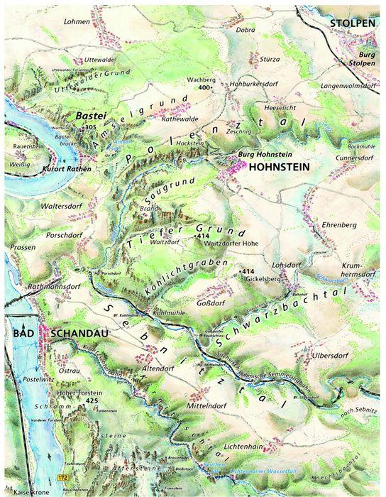 Karte Sachsische Schweiz Sachsische Schweiz Karte Sachsische