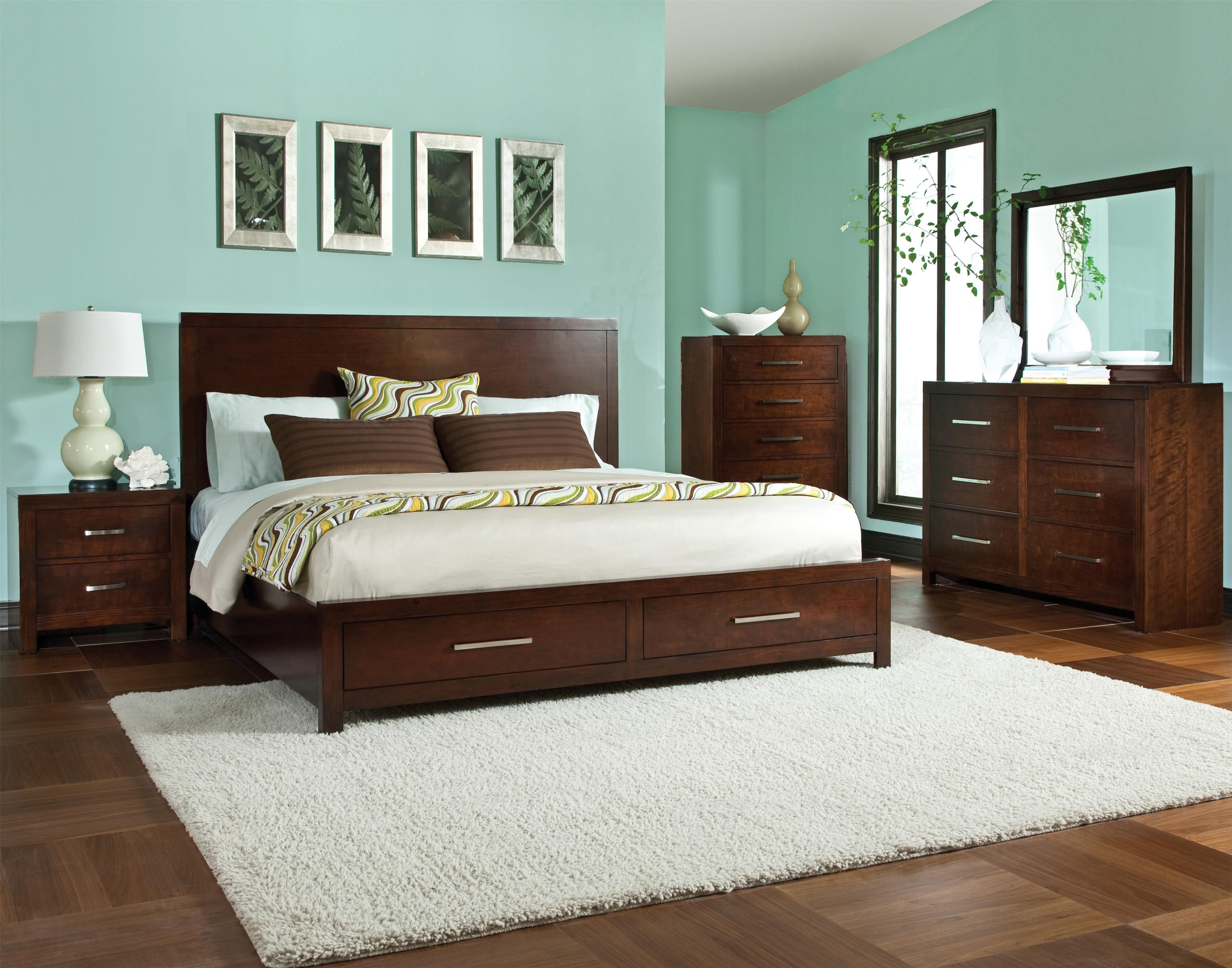 King Platform Bed With Storage Drawers Love The Simplicity Of The Bed Frame For The Home