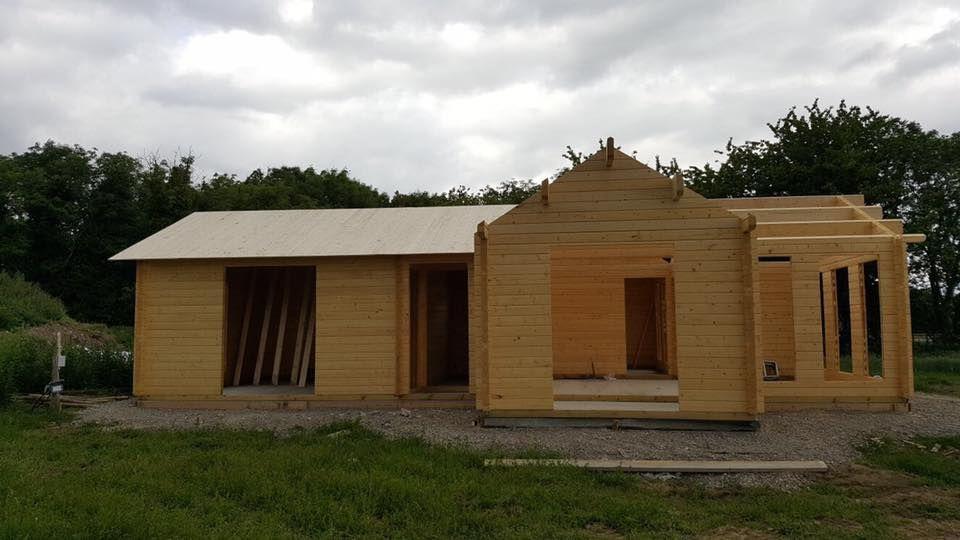 Residential Log Cabin Construction In Kilkenny Ireland Log
