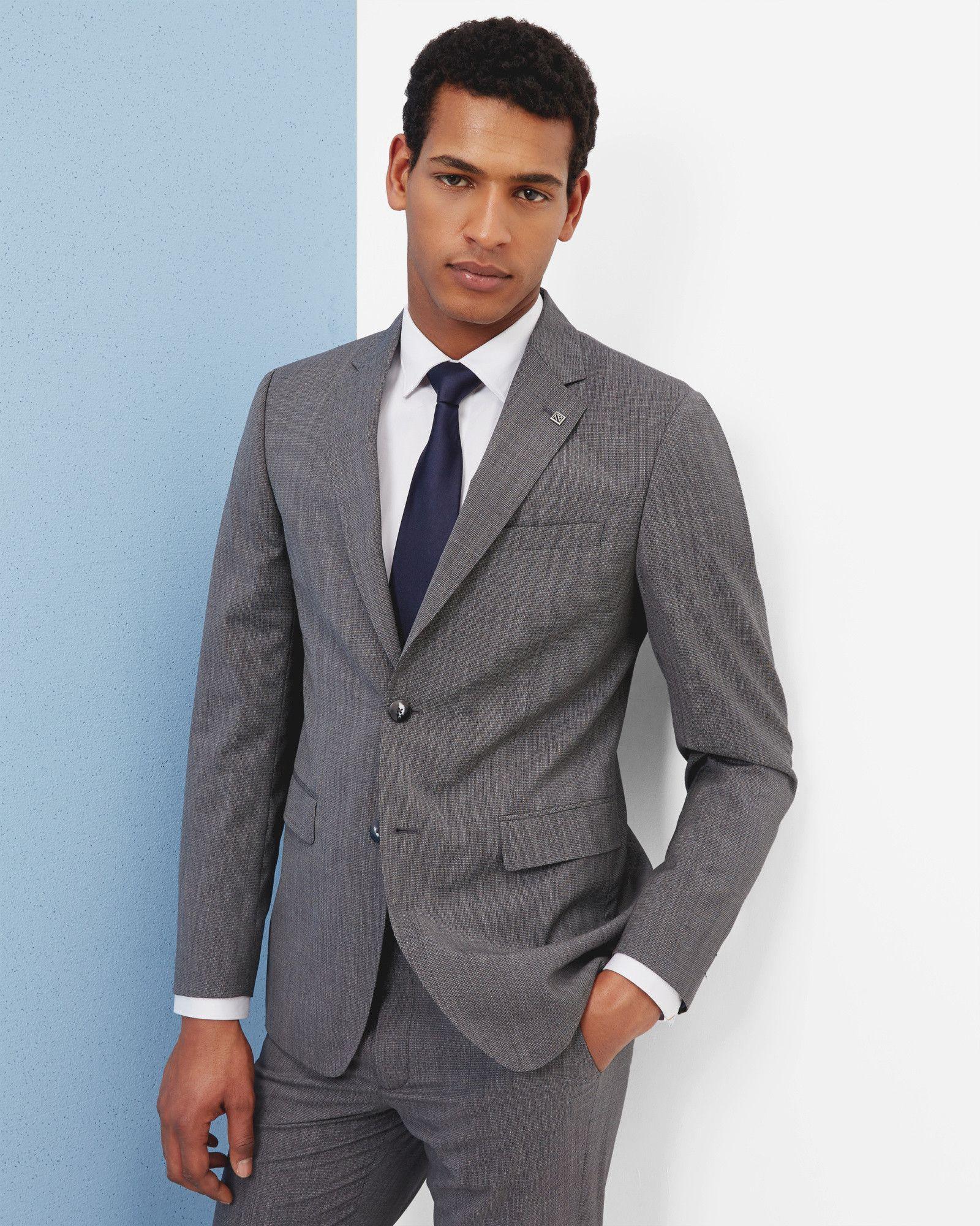 f17f644a4 Debonair modern fit wool jacket - Grey