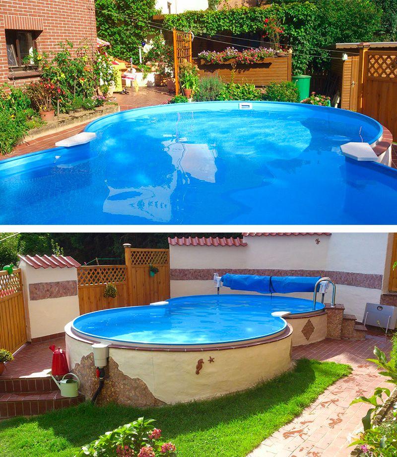 8 Form Swimmingpools Zu Discountpreisen Pool Fur Kleinen Garten Gartenpools Pool Im Garten