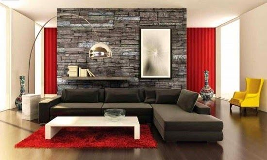 Salas con paredes en piedra comedor pinterest salas contemporaneas decoracion de pared y - Decoracion contemporanea ...