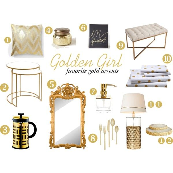 Golden Girl Gold Accent Pieces For Your Home Detalhes