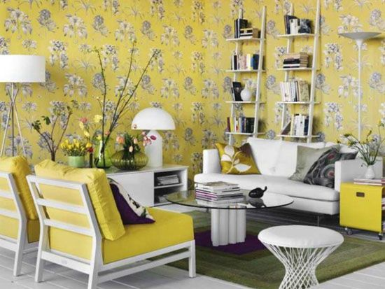Light Gray and Yellow Color Scheme, Calm Fall Decorating Ideas ...