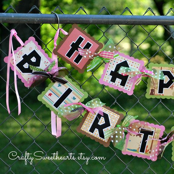 little girl happy birthday banner camping great outdoors