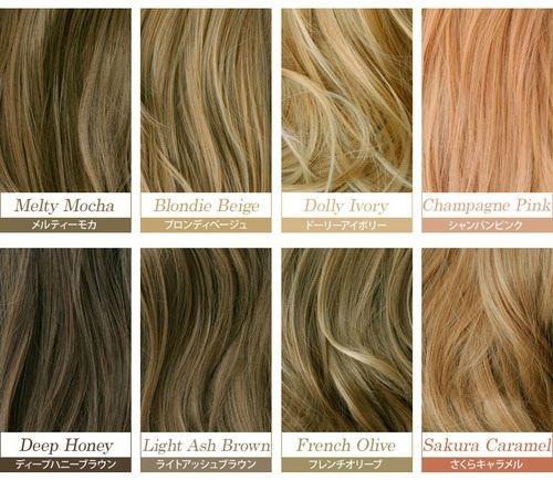 Hair Color Chart Hair Color Names Hair Color Chart Japanese Hair Color
