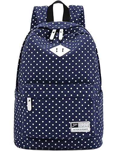 Brand new women canvas bag mochilas mujer Fashion ladies backpacks Polka  Dot school bags for teenagers girls 2016 Gift 1 pcs   Pub Date  Feb 9 2017 14fd686739c6f