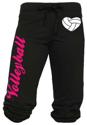 Volleyball Capri With Heart Shaped Volleyball Juniors Sizing Volleyball Sweatpants Volleyball Outfits Volleyball Sweats