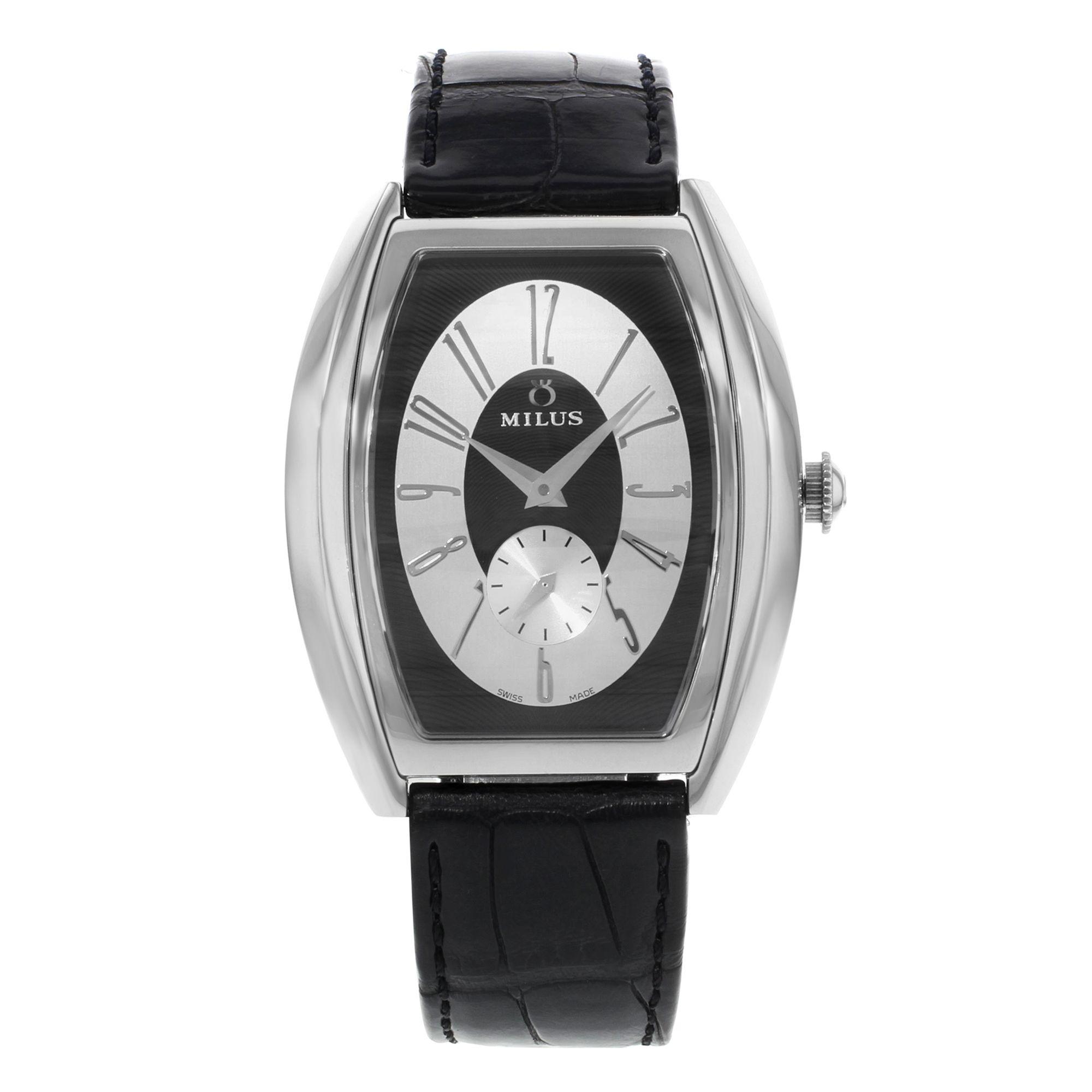 AUCTION Milus Aurigos AGE-S01 Stainless Steel Leather Quartz Ladies Watch