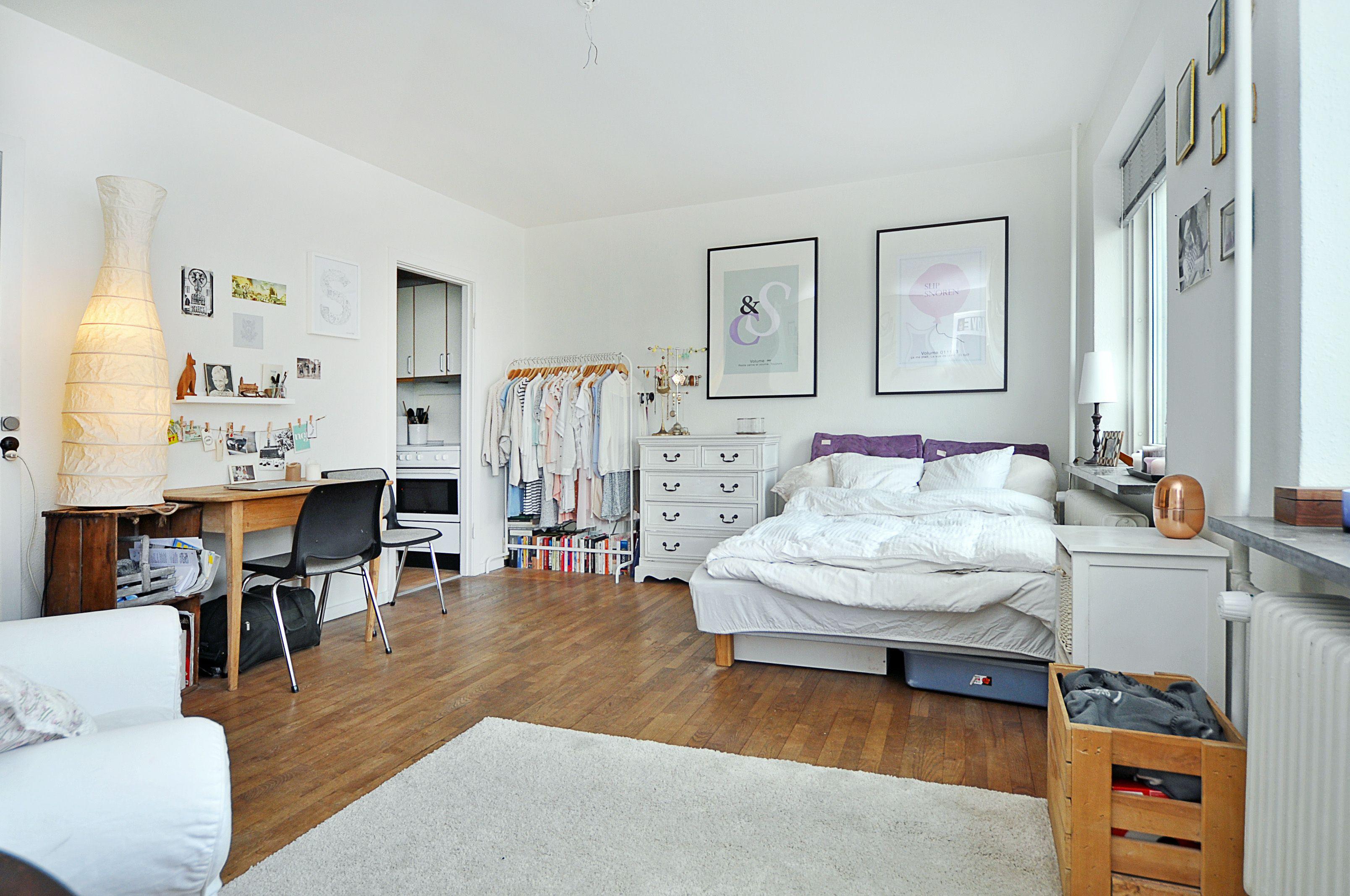 et værelses lejlighed indretning