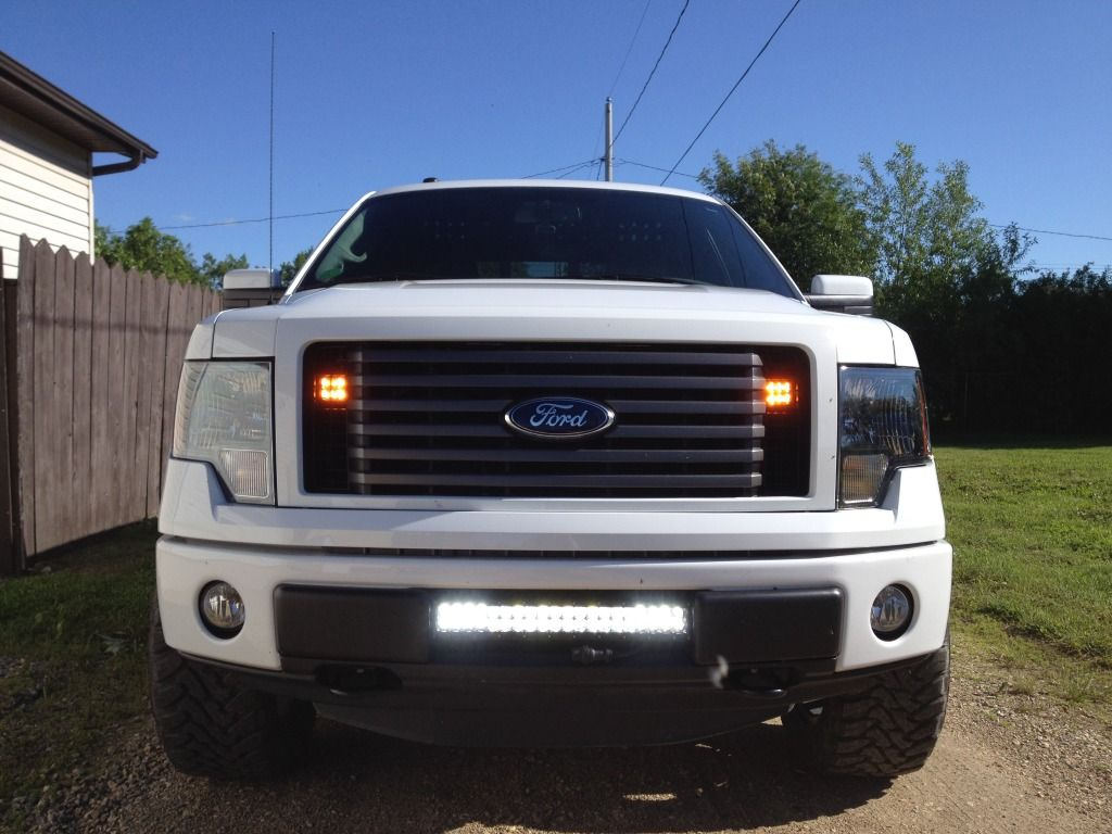 White F150 2009 3 Bar Grille Google Search F150 Truck Accessories Bar Lighting