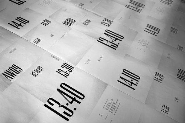 IDEEËN, AW09 presentation invitation by STUDIO NEWWORK , via Behance