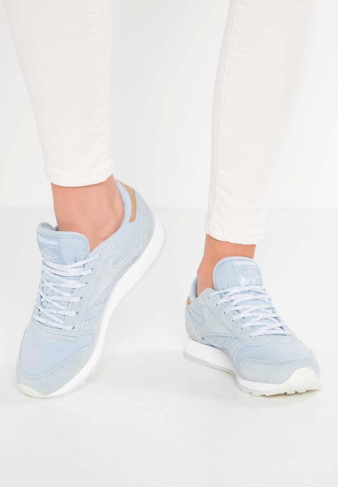 Reebok Classic. CL LEATHER SEA-WORN - Trainers - gable grey white ... 4b5a31525