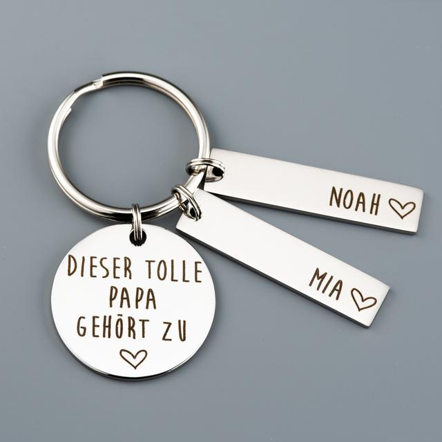 Photo of Doppelseitiger personalisierter Schlüsselbund für Oma – Bellissima.co
