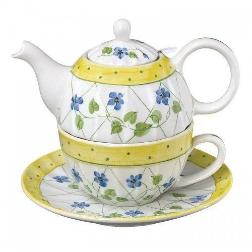 Fairy4u.com - Forget Me Not Flowers Tea for One Set from Andrea by Sadek