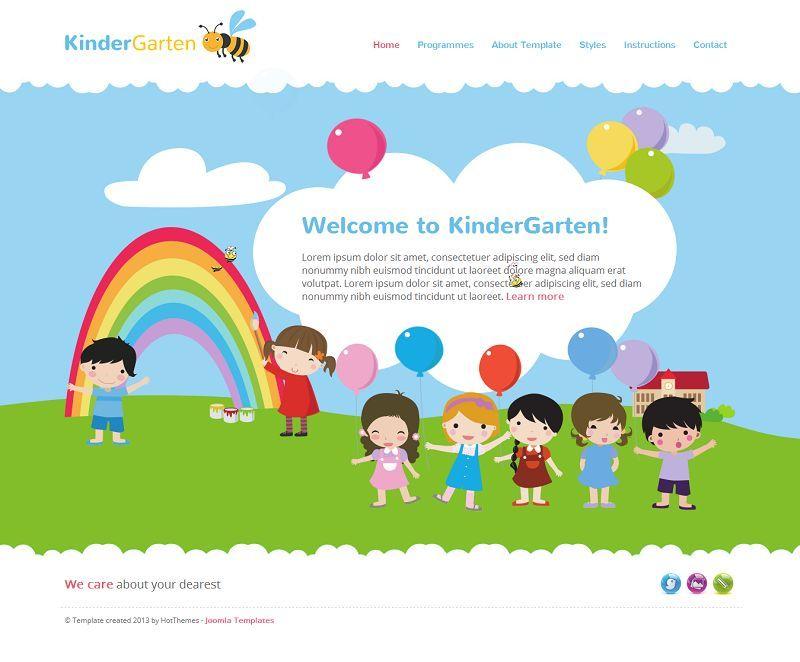 kindergarten responsive joomla template for kids website