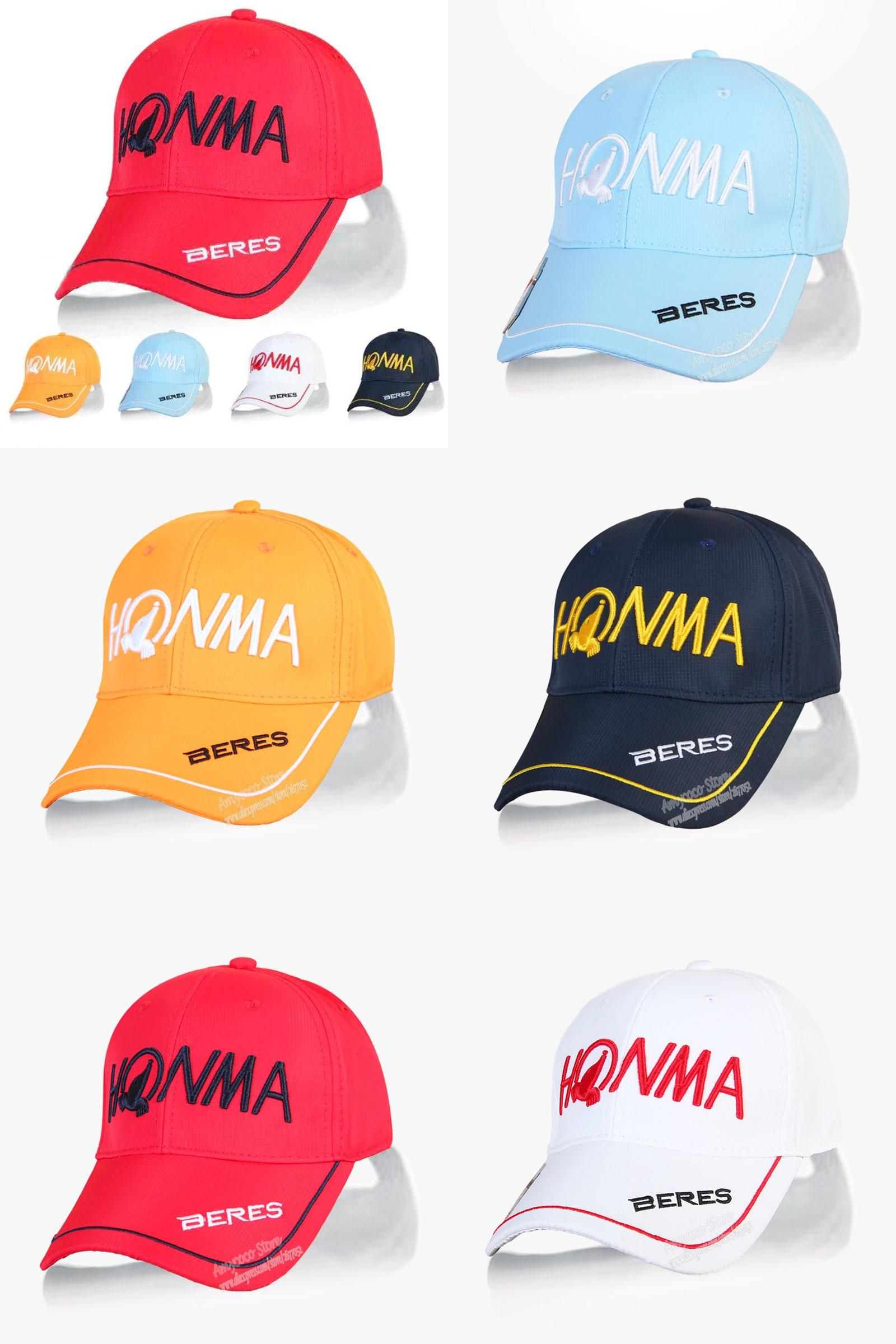 43d7cf63e40  Visit to Buy  New mens HONMA beres Golf hat 5 colors Sports Baseball cap