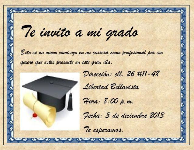 Tarjeta De Graduación De Bachiller Para Imprimir Imagui