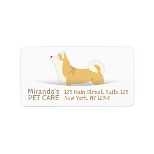 Shiba Inu Dog Pet Care Sitting Bathing Grooming Label Zazzle Com Pet Care Pet Clinic Cheap Pet Insurance